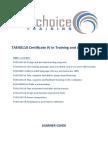TAE40110 - Learner Guide