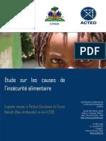 Etude Acted-cnsa Haiti 2013 - Causes de L'insécurité Alimentaire en Haiti