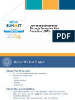 Operational Excellence Through Enterprise Risk Reduction