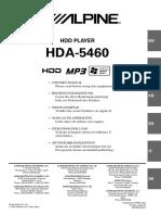 Hda-5460 Hdd Player [Om_hda-5460_en