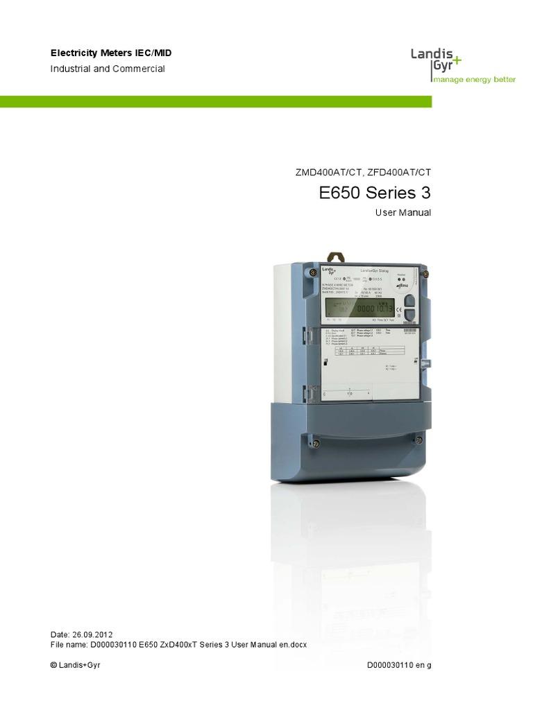 landis gyr zmd internacional manual de usuario power supply rh es scribd com landis gyr notice landis gyr manual e650