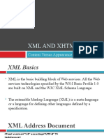 XML and XHTML Content Versus Appearance