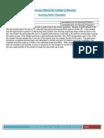 nursing skills checklist final pdf
