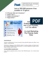 Email Marketing - Lista 350000 Mail Italiane - Web Marketing - Vendi Il Tuo Prodotto