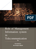 Role of Management Information System in Telecommunication