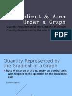 Gradient & Area Under a Graph