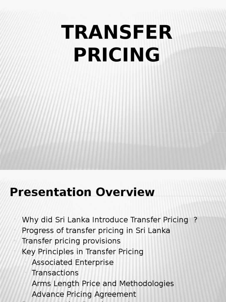 Transfer Pricing Taxes Economies