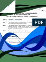 Mockboard Examination 2013