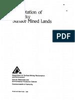 Revegetation of Kentucky Surface Mined Land