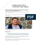 North Slave Metis Alliance Federal Land Claims Report