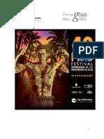 40 Festival internacional de Cine Independiente de Elche. Inscripción. Participación. Votación. Del 14 al 21 de julio de 2017