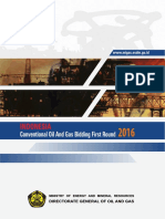 Indonesia Conventional Oil & Gas Bidding First Round 2016