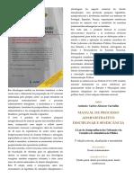 Índice - Manual de Processo Administrativo Disciplinar e Sindicância - Antônio Carlos Alencar Carvalho