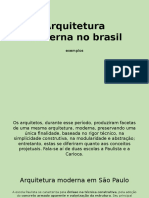 Arquitetura Moderna No Brasil