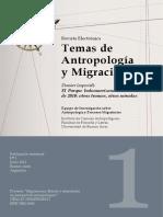 Temas de antropología y migración
