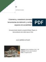 Cubertería y Metalistería Doméstica - Julio Garrido Letelier