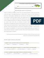 Ficha de Escolha Múltipla Sobre Gramática Modalidade