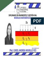 Modelos Matematicos Catedra Pavimentos UN