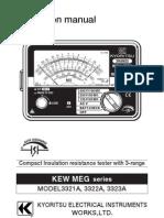 Kyoritsu Insulation Tester 3321A-3322A-3323A