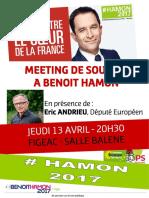 13 Avril - Affiche Meeting Figeac - Andrieu