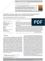 Atomization and Spray Characteristics of Bioethanol and Bioethanol Blended