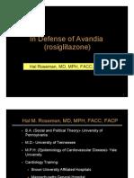 FDA HR Presentation in Defense of Avandia 07.14