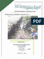 Geotechnical Investigation - 105 Bridge, Region 8