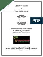 Online job portal report