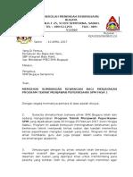 Surat memohon bantuan kewangan daripada PIBG