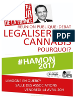 14 Avril - Affiche Limogne Légalisation Cannabis