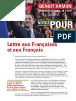 Lettre de Benoît Hamon aux Français