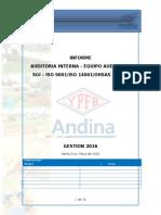 Informe Preliminar - Auditoria Interna Sig Iso 14001 9001 Ohsas 18001