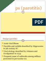 Mumps (Parotitis)
