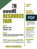 resource fair flyer
