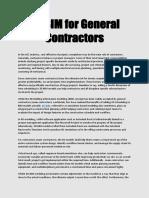 4D BIM for General Contractors