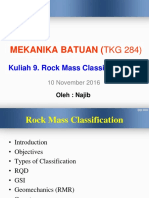 Rockmass Classification