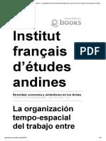 Etnicidad, Economía y Simbolismo en Los Andes - La Organización Tempo-espacial Del Trabajo Entre Los Aymaras de Tarapacá_ La Perspectiva Mitológica -
