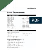 Tabela de Formulas-Cálculo