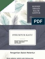[Ppt] Struktur Kayu - Konsep Desain Balok Lentur