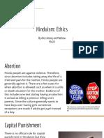 hinduism- ethics