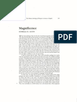 summary of magnificence by estrella alfon