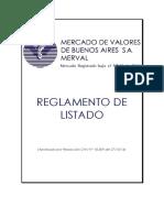 Merval - Reglamento de Listado