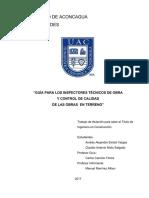 GUÍA PARA LOS INSPECTORES TÉCNICOS DE OBRA  Y CONTROL DE CALIDAD  DE LAS OBRAS  EN TERRENO