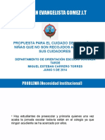 Propuesta Alternativa para custodia de niños en Instituciones Educativas Distritales de Bogota al terminar su jornada escolar