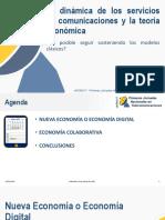 La dinámica de los servicios de comunicaciones y la teoría económica