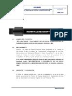 1. Memoria Descriptiva Implementacion y Equipamiento en Las Areas Administrativas