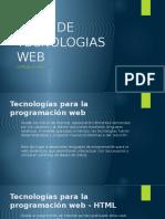 1 Tipos de Tecnologias Web