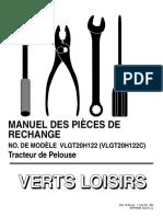 VERTS LOISIRS Parts List