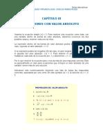 Ecuaciones Con Valor Absoluto EJERCICIOS