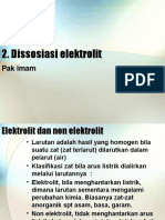 2. Disosiasi Elektrolit